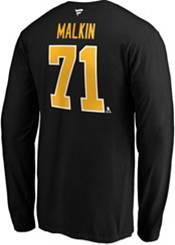 NHL Men's Pittsburgh Penguins Evgeni Malkin #71 Black Long Sleeve Player Shirt product image