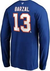 NHL Men's New York Islanders Mathew Barzal #13 Royal Long Sleeve Player Shirt product image