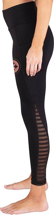 Concepts Sport Women's Pittsburgh Steelers Black Frontline Leggings product image