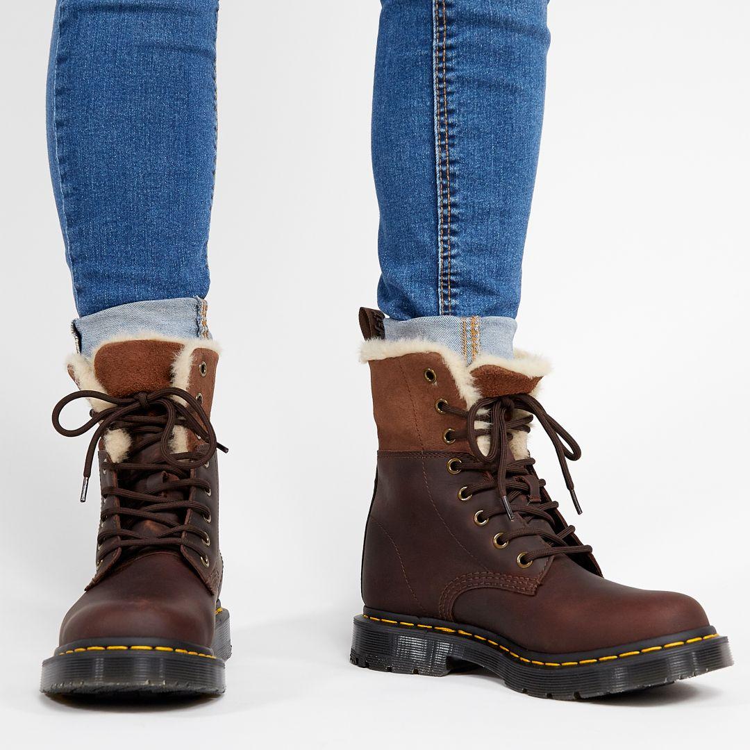 gładki najlepsze trampki sklep Dr. Martens Women's 1460 Kolbert WinterGrip Winter Boots