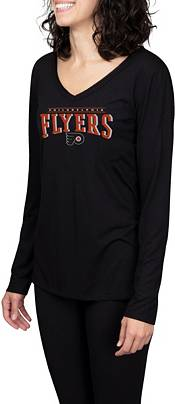 Concepts Sport Women's Philadelphia Flyers Marathon Black Long Sleeve T-Shirt product image