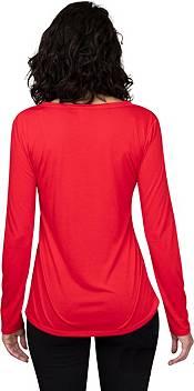 Concepts Sport Women's Atlanta Falcons Marathon Red Long Sleeve T-Shirt product image
