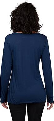 Concepts Sport Women's Chicago Bears Marathon Navy Long Sleeve Shirt product image