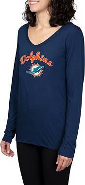 Concepts Sport Women's Miami Dolphins Marathon Navy Long Sleeve T-Shirt product image