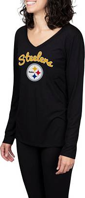 Concepts Sport Women's Pittsburgh Steelers Marathon Black Long Sleeve T-Shirt product image