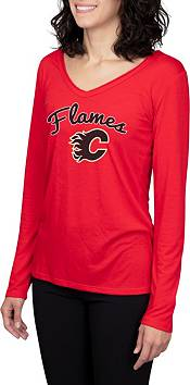Concepts Sport Women's Calgary Flames Marathon  Knit Long Sleeve T-Shirt product image