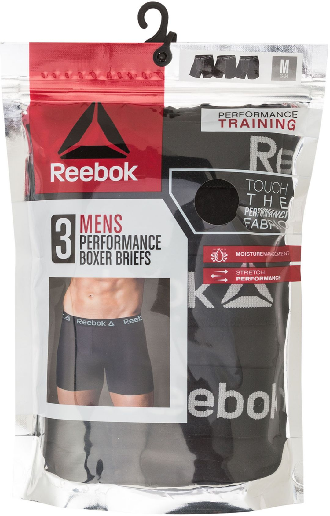 f76cd89392c01 Reebok Men's Performance 6'' Boxer Briefs – 3 Pack