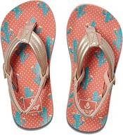 Reef Kids' Little Ahi Cactus Flip Flops product image