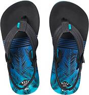 Reef Kids' Little Ahi Aqua Palms Flip Flops product image