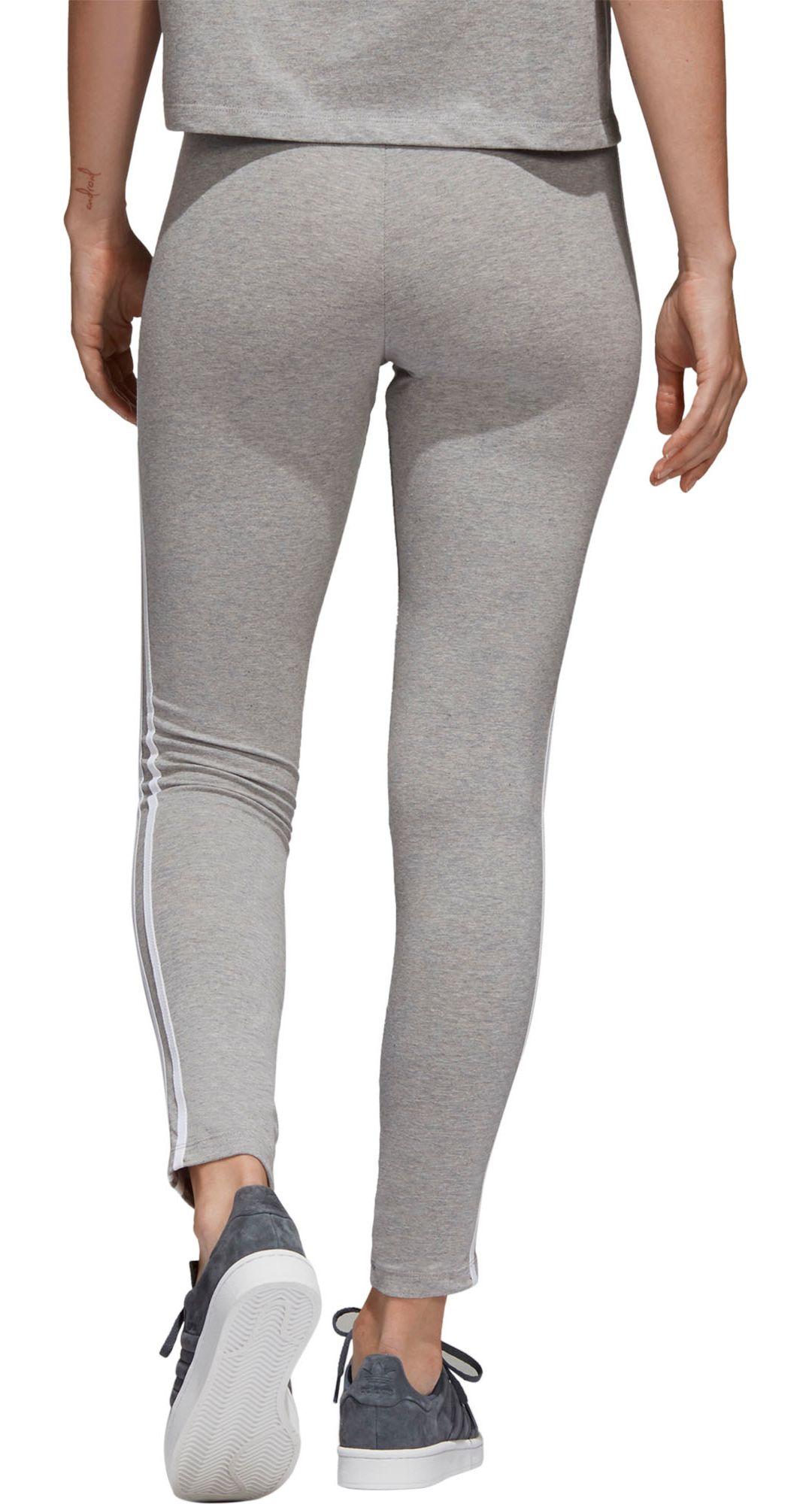 adidas originals 3 stripe cotton jersey leggings blackwhite