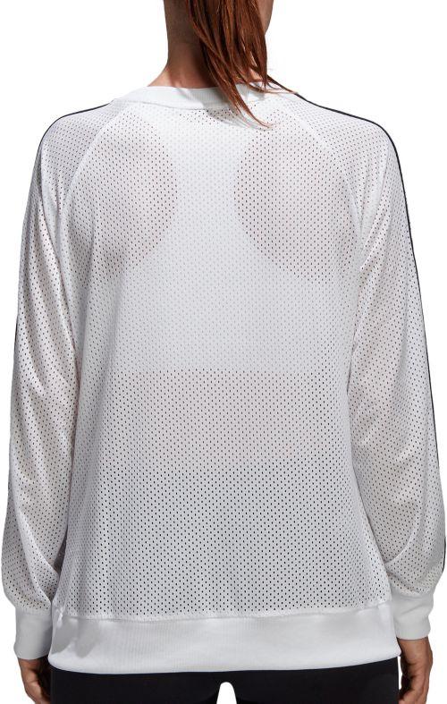 Dick's Sporting Sweatshirt Mesh Crewneck Women's Adidas Essentials 0W1nqxHX6W