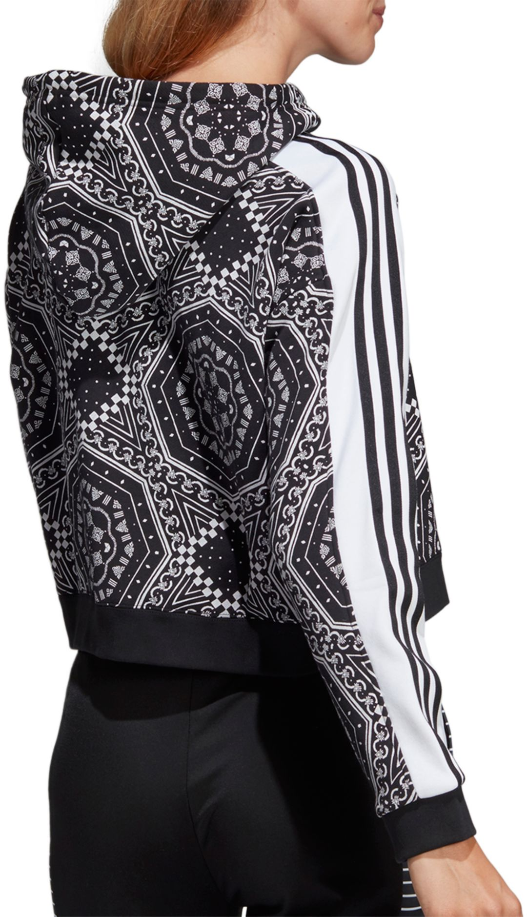 998c984dc74 adidas Originals Women's Printed Cropped Hoodie. noImageFound. Previous. 1.  2