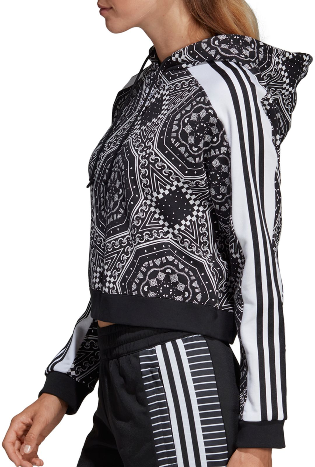 adidas Originals Women's Printed Cropped Hoodie