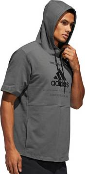 adidas Men's Post Game Ribbed Short Sleeve Hoodie product image