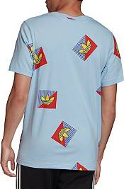 adidas Originals Men's Allover Print Diagonal Graphic T-Shirt product image