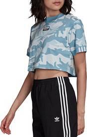 adidas Originals Women's Raise Your Voice Camo Cropped Short Sleeve T-Shirt product image