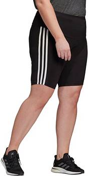 adidas Women's Plus Size Must Haves 3-Stripes Cotton Short Tights product image