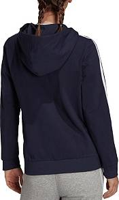 adidas Women's Essentials Single Jersey 3-Stripes Full-Zip Hoodie product image