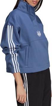adidas Women's Adicolor 3D Trefoil Fleece Half-Zip Sweatshirt product image