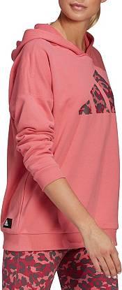 adidas Women's Sportswear Leopard-Print Oversize Hoodie product image