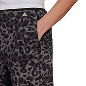 adidas Women's Sportswear Leopard-Print Cuffed Sweatpants product image