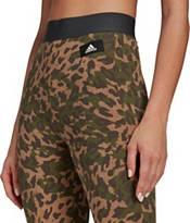 adidas Women's Sportswear Leopard-Print Cotton Leggings product image