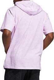 adidas Men's 3 Bar Wash Short Sleeve Hoodie product image
