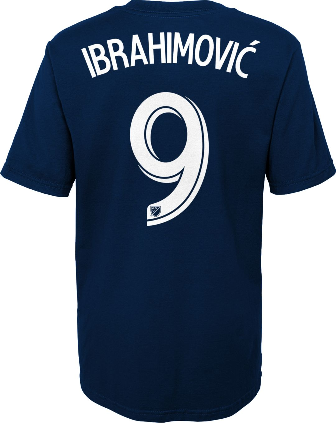 sports shoes 012a3 ec63a MLS Youth Los Angeles FC Zlatan Ibrahimovic #9 Navy Player T-Shirt