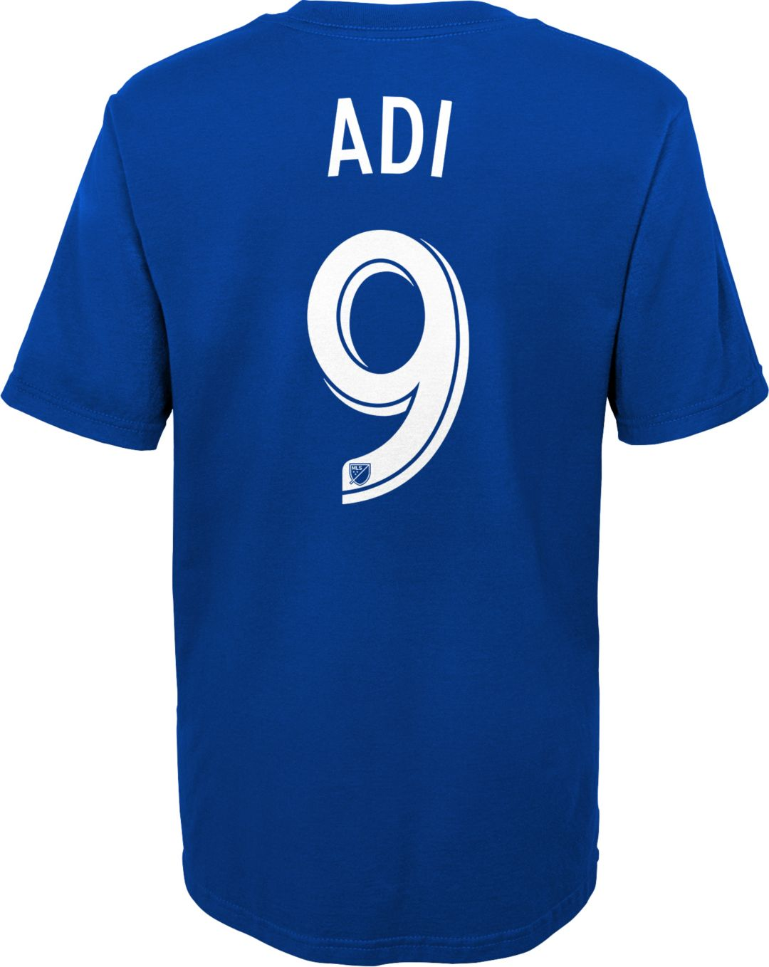 best service bd440 c1a25 MLS Youth FC Cincinnati Fanendo Adi #9 Royal Player T-Shirt