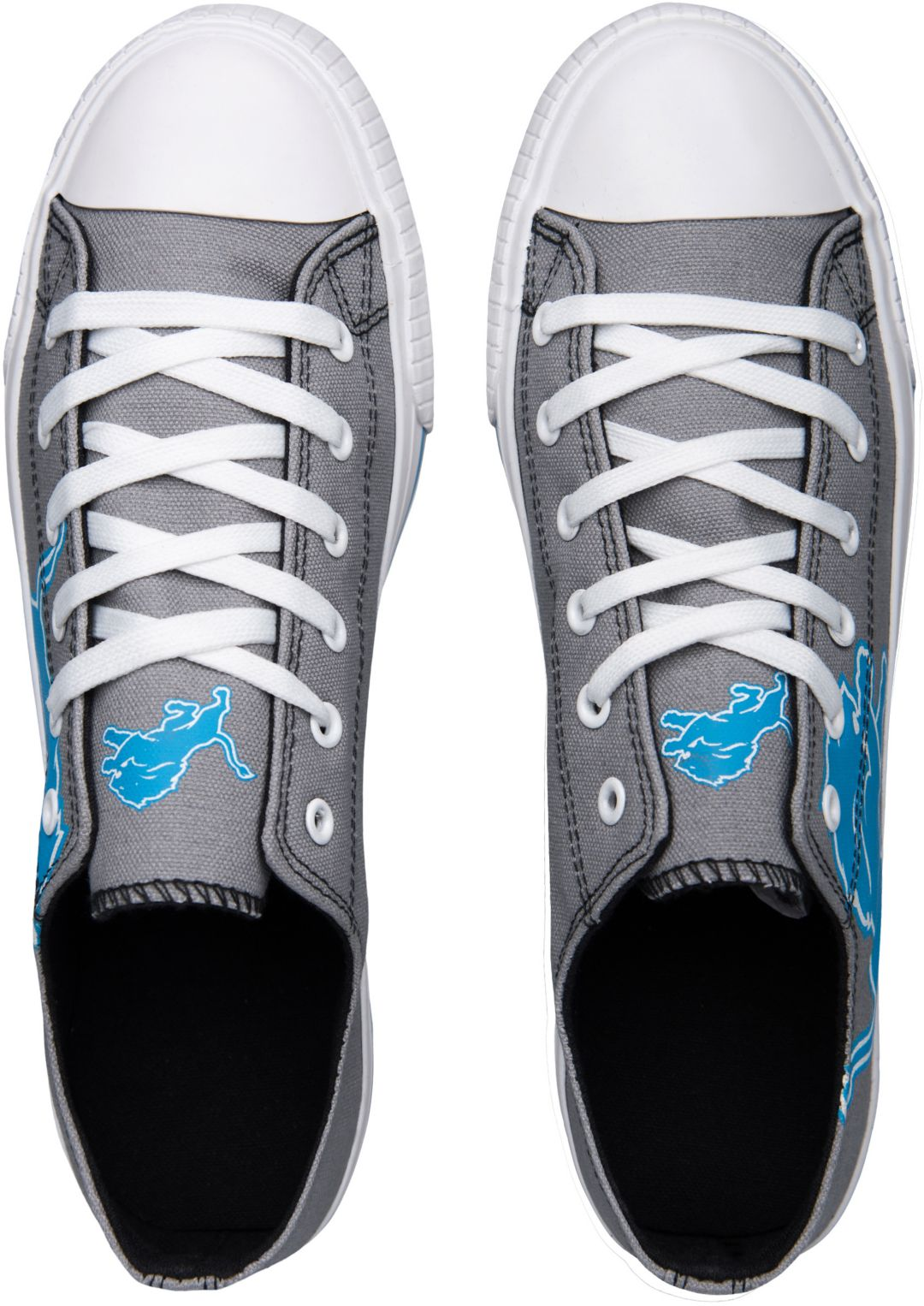 d673a7c4 FOCO Detroit Lions Men's Canvas Sneakers