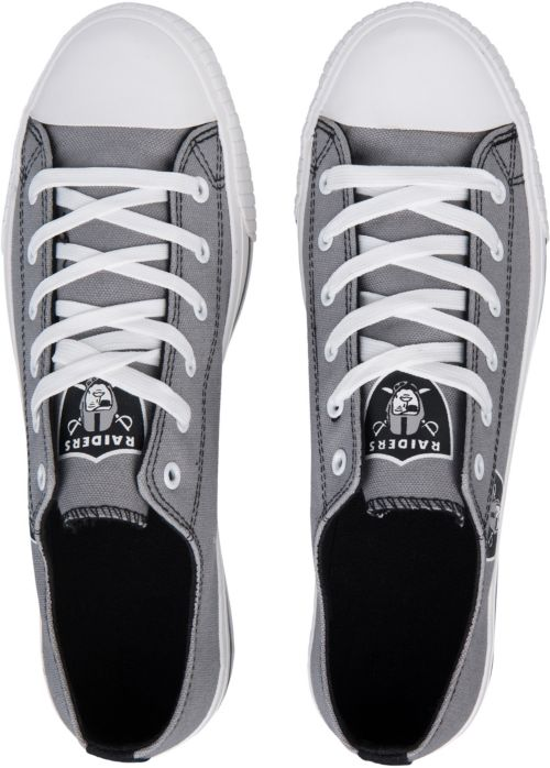 ce526940a FOCO Oakland Raiders Canvas Sneakers | DICK'S Sporting Goods