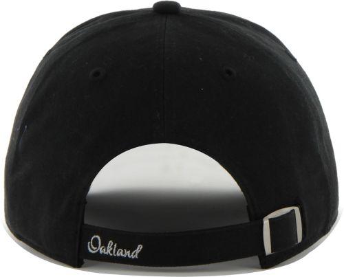 59737b1766de0 47 Women s Oakland Raiders Sparkle Logo Black Adjustable Hat ...