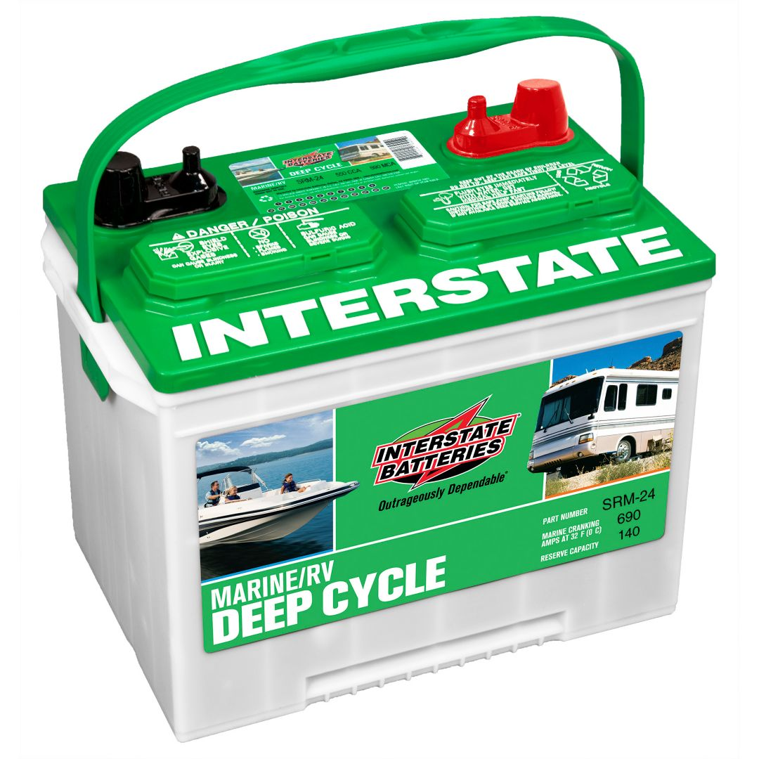 Who Makes Interstate Batteries >> Interstate Batteries Srm 24 Marine Rv Deep Cycle Battery