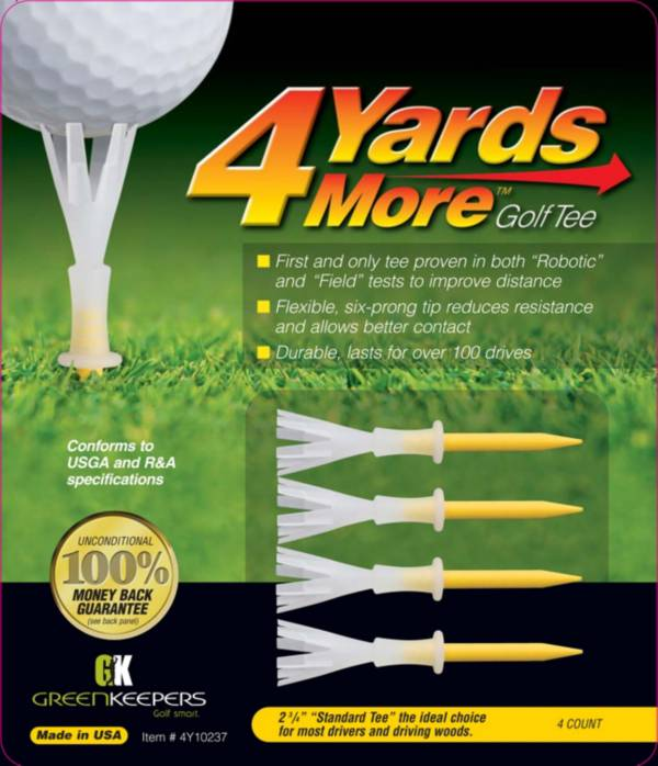 """GreenKeepers 2.75"""" 4 More Yards Golf Tees - 4 Pack product image"""