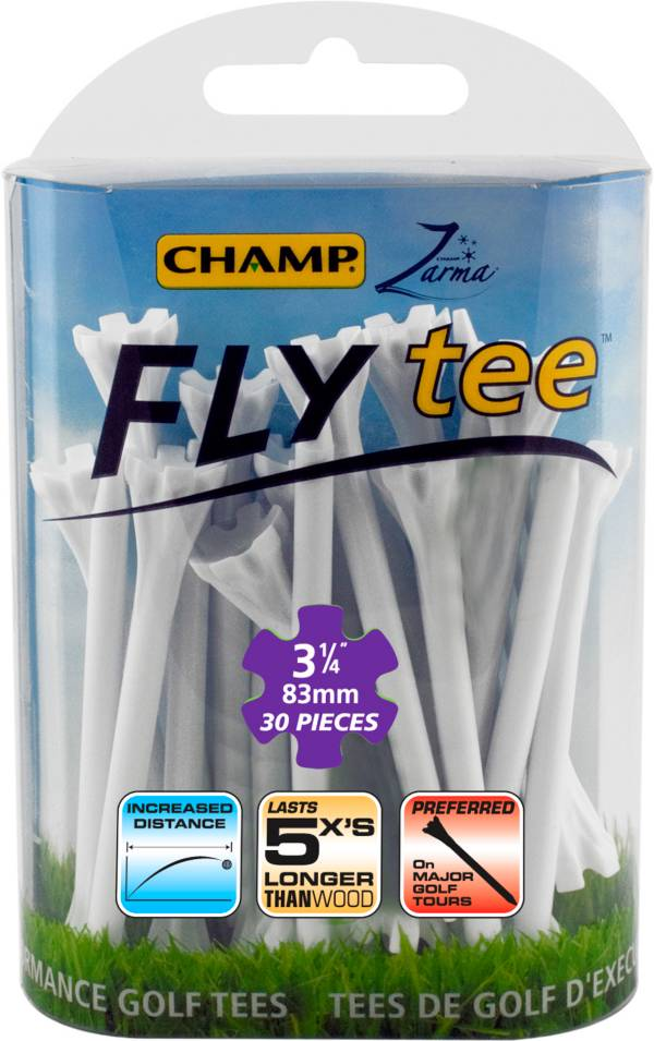 "CHAMP Zarma FLYtee 3.25"" White – 25-Pack product image"