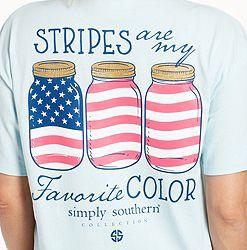 17dd1da0 Simply Southern Women's Short Sleeve Stripes USA T-Shirt alternate 3