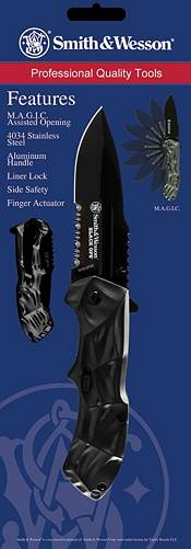 Smith & Wesson Knives 3rd Gen. Black Ops M.A.G.I.C. AO Drop Point Knife product image
