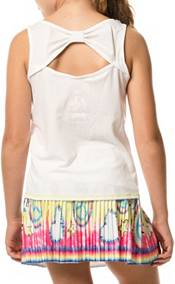 Lucky In Love Girls' Tie Knot Tennis Tank product image