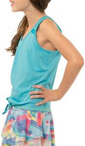 Lucky in Love Girls' Tie Knot Tennis Tank Top product image
