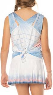Lucky In Love Girls' Astral Tie Back Tennis Tank product image