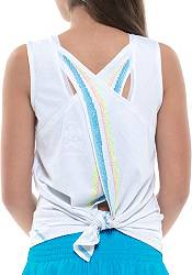 Lucky In Love Girls' Square Are You Tie Back Tennis Tank Top product image