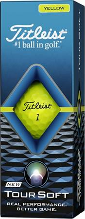 Titleist 2020 Tour Soft Yellow Golf Balls product image