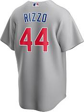 Nike Men's Replica Chicago Cubs Anthony Rizzo #44 Grey Cool Base Jersey product image