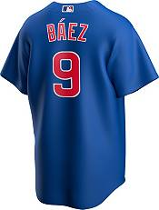 Nike Men's Replica Chicago Cubs Javier Baez #9 Royal Cool Base Jersey product image