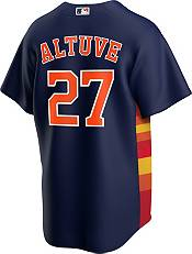 Nike Men's Replica Houston Astros Jose Altuve #27 Rainbow Cool Base Jersey product image
