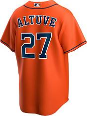 Nike Men's Replica Houston Astros Jose Altuve #27 Orange Cool Base Jersey product image