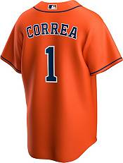 Nike Men's Replica Houston Astros Carlos Correa #1 Orange Cool Base Jersey product image