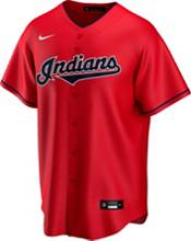 Nike Men's Replica Cleveland Indians Francisco Lindor #12 Red Cool Base Jersey product image