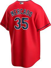 Nike Men's Replica Cleveland Indians Oscar Mercado #35 Red Cool Base Jersey product image