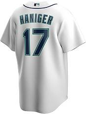 Nike Men's Replica Seattle Mariners Mitch Hainger #17 White Cool Base Jersey product image